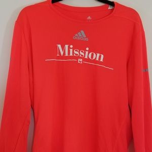 Womens adidas mission long sleeve top size large